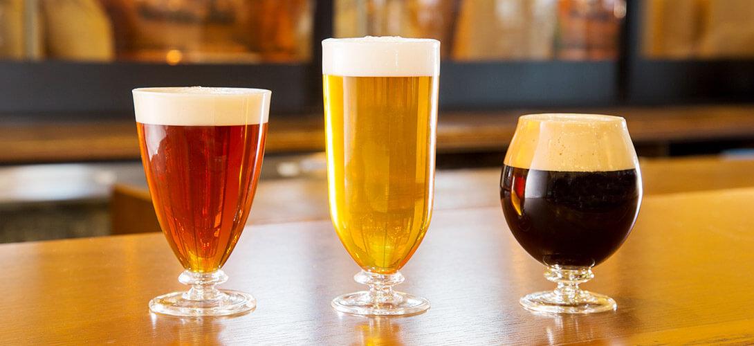 3つの宇奈月ビール